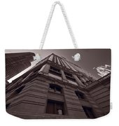 Chicago Towers Bw Weekender Tote Bag