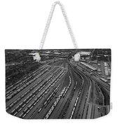 Chicago Transportation 02 Black And White Weekender Tote Bag