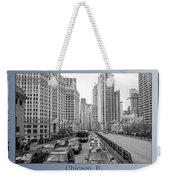 Chicago Triptych 3 Panel Black And White Weekender Tote Bag