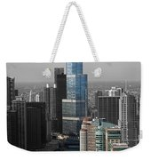 Chicago Trump Tower Blue Selective Coloring Weekender Tote Bag