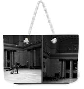 Chicago Union Station The Great Hall 2 Panel Bw Weekender Tote Bag