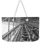 Chicago United Center Before The Gates Open Blackhawk Seat One Bw Hdr Weekender Tote Bag
