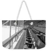 Chicago United Center Before The Gates Open Blackhawk Seat One Bw Weekender Tote Bag