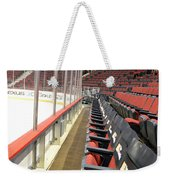 Chicago United Center Before The Gates Open Blackhawk Seat One Weekender Tote Bag
