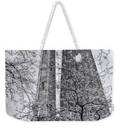 Chicago Water And Hancock Towers Black And White Weekender Tote Bag