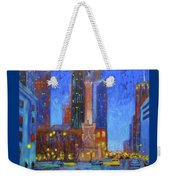 Chicago Water Tower At Night Weekender Tote Bag