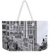 Chicago Water Tower Beacon Black And White Weekender Tote Bag