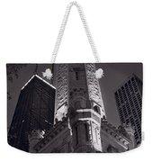 Chicago Water Tower Panorama B W Weekender Tote Bag