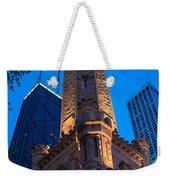 Chicago Water Tower Panorama Weekender Tote Bag by Steve Gadomski