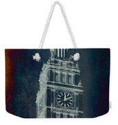 Chicago Wrigley Clock Tower Textured Weekender Tote Bag