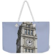 Chicago Wrigley Clock Tower Weekender Tote Bag
