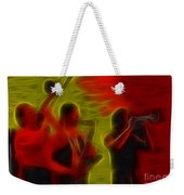 Chicago19-horns-fractal-1 Weekender Tote Bag