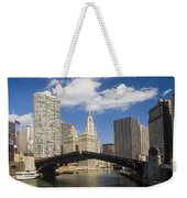 Chicagobridge Up Weekender Tote Bag