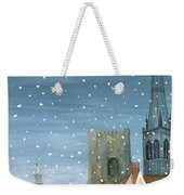 Chichester Cathedral A Snow Scene Weekender Tote Bag