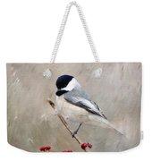 Chickadee And Berries Weekender Tote Bag