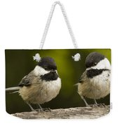Chickadee Dee Dee Weekender Tote Bag by Jean Noren