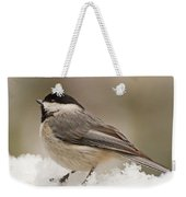 Chickadee In The Snow Weekender Tote Bag