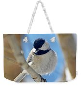 Chickadee On A Bright Day  Weekender Tote Bag
