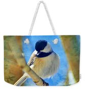 Chickadee On A Bright Day -digital Paint I Weekender Tote Bag
