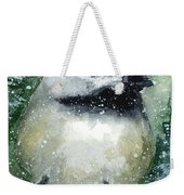 Chickadee On A Limb Weekender Tote Bag