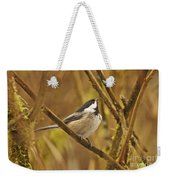 Chickadee On Alert Weekender Tote Bag