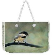 Chickadee With Frame  Weekender Tote Bag