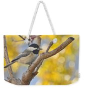 Chickadee With His Prize Weekender Tote Bag
