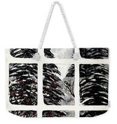 Chickadees And Dogberries Abstraction Weekender Tote Bag