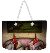 Chicken - Chick Flick Weekender Tote Bag by Mike Savad