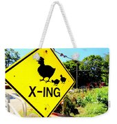 Chicken Crossing Weekender Tote Bag