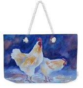 Chicken Duo Weekender Tote Bag