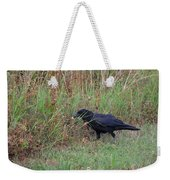 Chicken Eating Crow Weekender Tote Bag