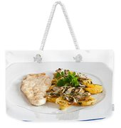 Chicken Escalope With Potatoes And Mushroom Weekender Tote Bag