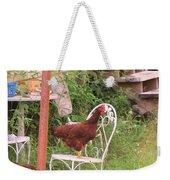 Chicken In The Chair Weekender Tote Bag