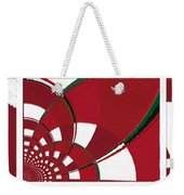 Chicken Little Crossed The Road - Abstract - Triptych Weekender Tote Bag