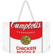 Chicken Noodle Soup Weekender Tote Bag by Gary Grayson