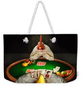 Chicken - Playing Chicken Weekender Tote Bag by Mike Savad