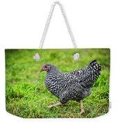 Chicken Walking On Green Pasture Weekender Tote Bag