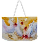 Chickens Feed Weekender Tote Bag