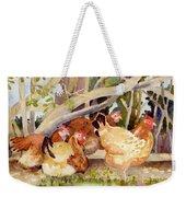 Chickens In The Hedge II Weekender Tote Bag