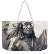Chief He Dog Of The Sioux Nation  C. 1900 Weekender Tote Bag