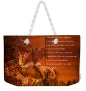 Chief Shabbona And The Ten Indian Commandments Weekender Tote Bag
