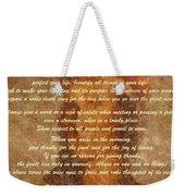 Chief Tecumseh Poem Weekender Tote Bag