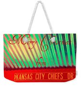 Chiefs Christmas Weekender Tote Bag