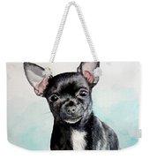Chihuahua Black Weekender Tote Bag