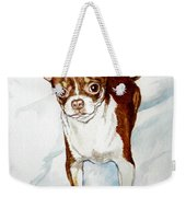 Chihuahua White Chocolate Color. Weekender Tote Bag