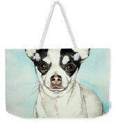 Chihuahua White With Black Spots Weekender Tote Bag