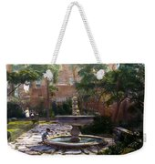 Child And Fountain Weekender Tote Bag