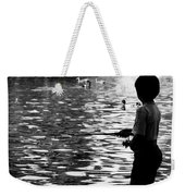 Child Fishing Weekender Tote Bag