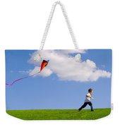 Child Flying A Kite Weekender Tote Bag